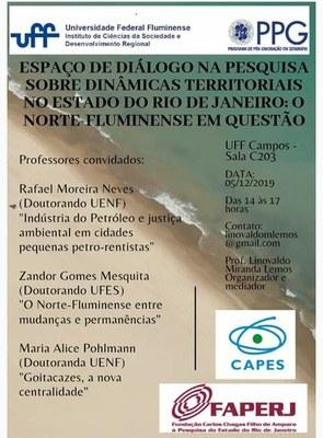 Espaço de Diálogo sobre Dinâmicas Territoriais no Estado do Rio de Janeiro - o Norte Fluminense em questão