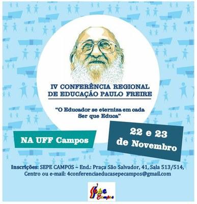 IV Conferência Regional de Educação Paulo Freire